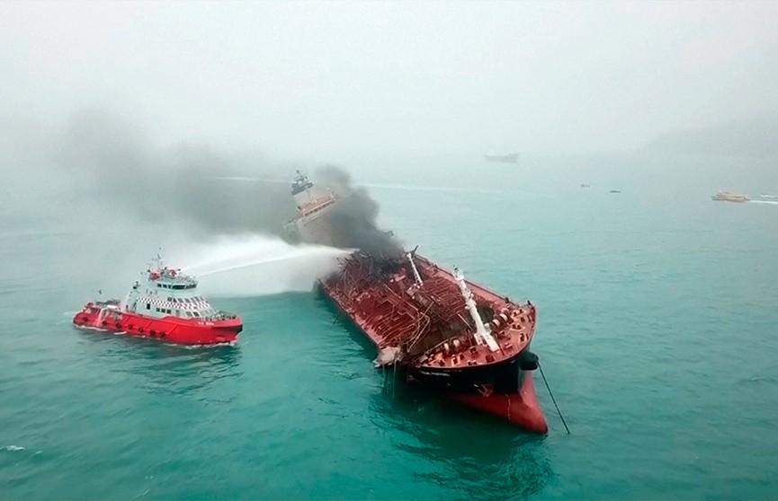 Пожар вспыхнул на нефтяном танкере возле Гонконга