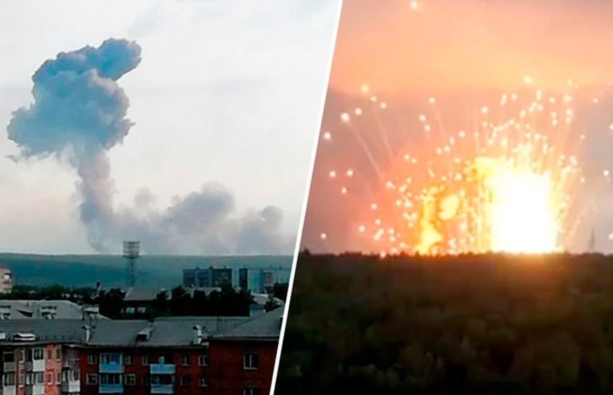 Эвакуация в Красноярском крае: горит хранилище пороховых зарядов
