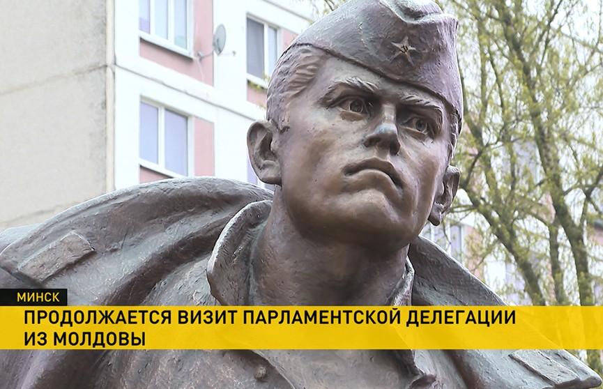 Памятник молдавскому воину, Герою Советского Союза Иону Солтысу открыли в Минске
