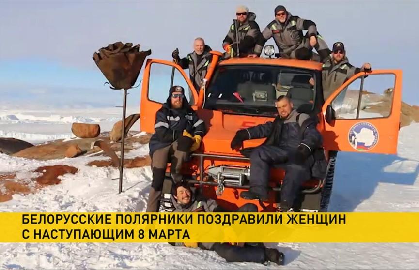 Белорусские полярники поздравляют женщин с 8 Марта из Антарктиды (ВИДЕО)