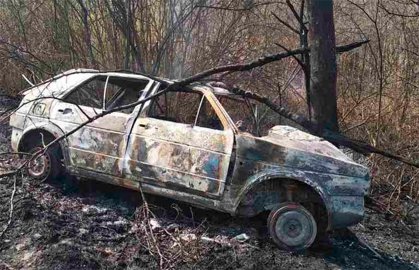 Два человека сгорели во врезавшемся в дерево автомобиле