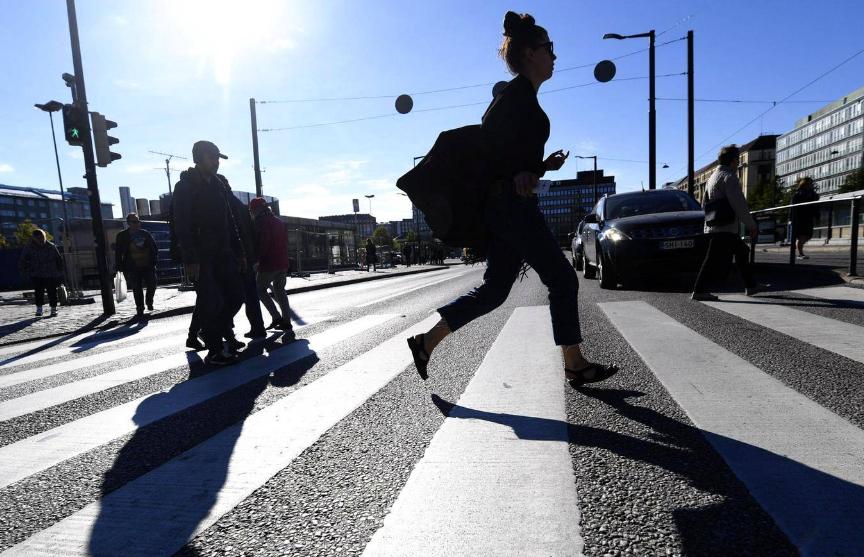 В Хельсинки за год не погиб ни один пешеход впервые за 100 лет