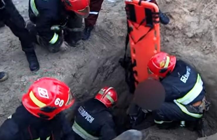 Мужчину засыпало грунтом во время строительных работ в Гомеле