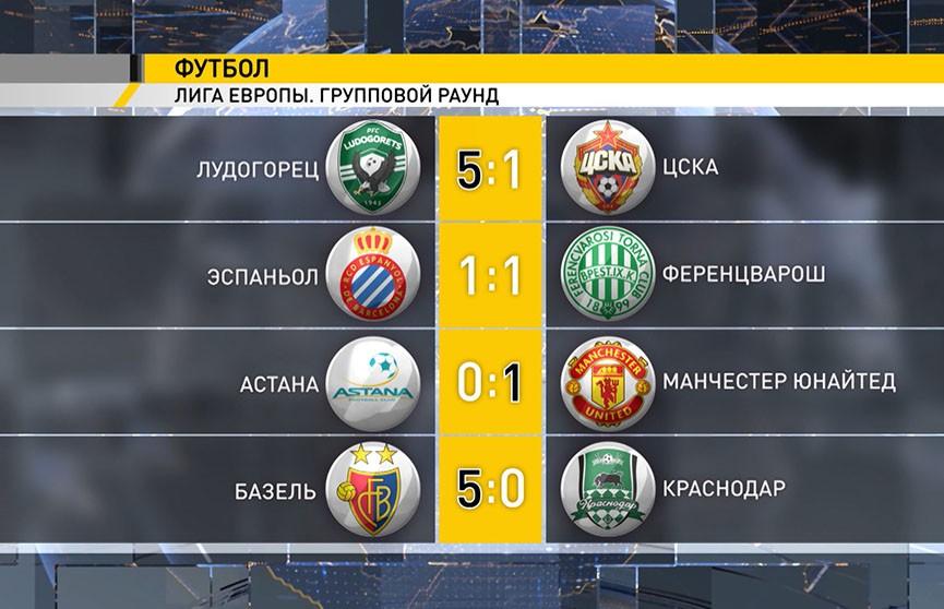 Московский ЦСКА потерпел разгромное поражение в Лиге Европы
