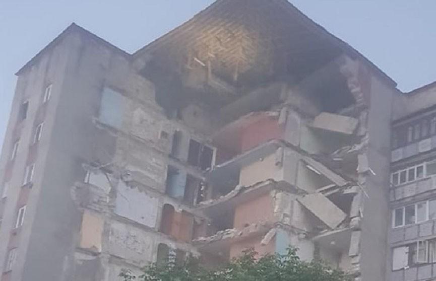 В Молдове обрушилась часть девятиэтажки (ВИДЕО)
