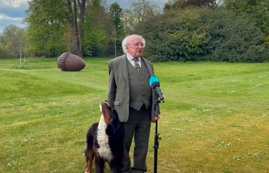 Интервью президента Ирландии едва не сорвалось. Смотрите, что произошло