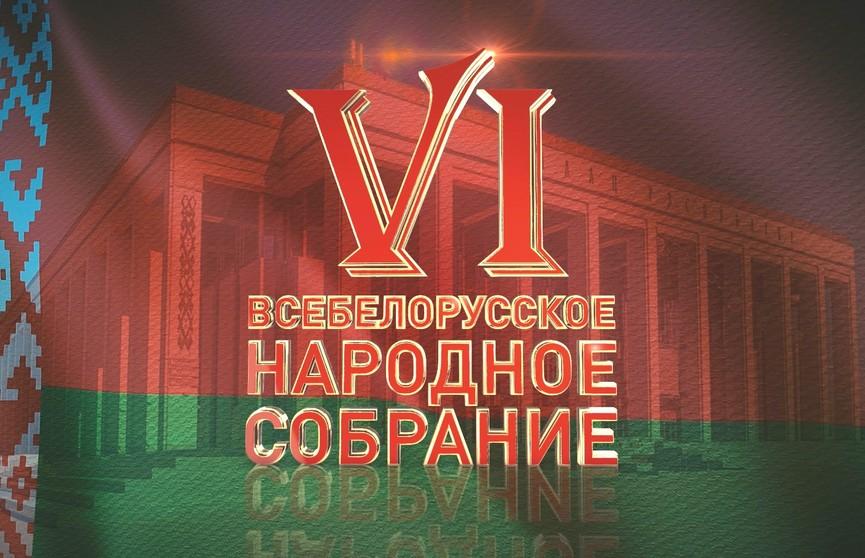 Второй день VI Всебелорусского народного собрания онлайн на ОНТ