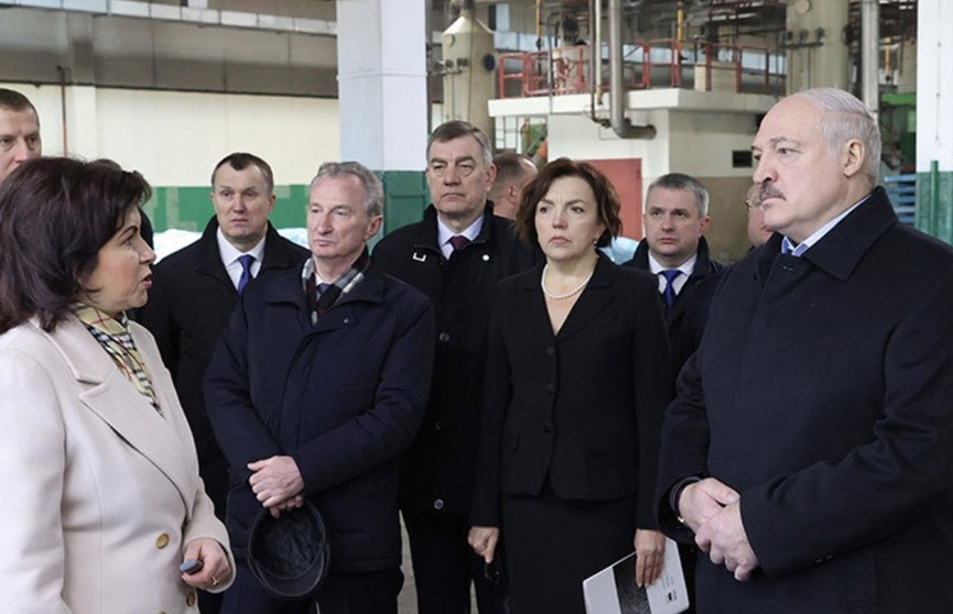 Александр Лукашенко посетил кожевенный завод в Гатово