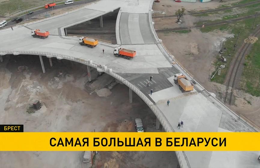 Западный обход: в Бресте завершается строительство уникальной транспортной развязки (ВИДЕО)