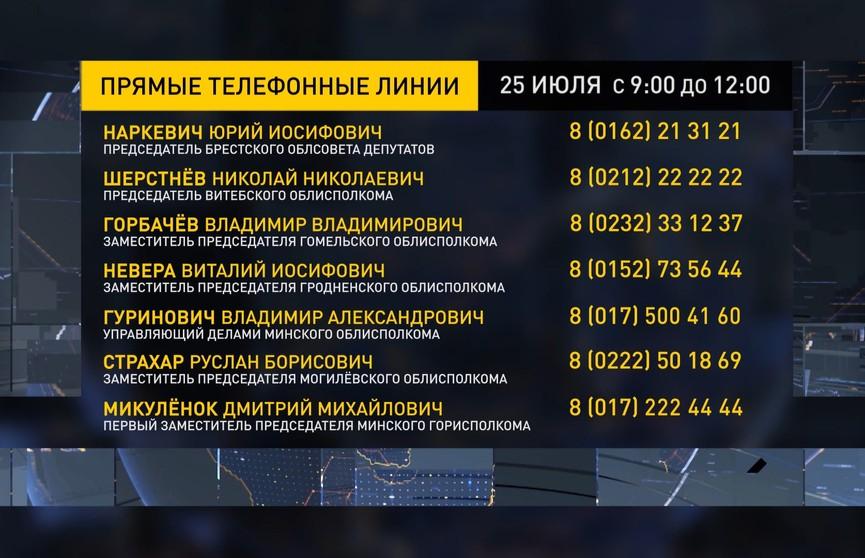 Прямые телефонные линии пройдут в исполкомах по всей Беларуси