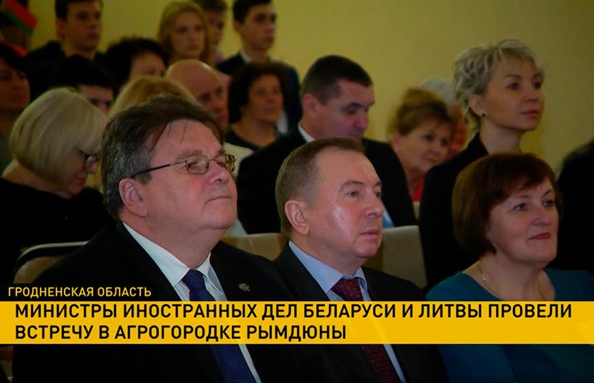 Линас Линкявичюс и Владимир Макей посетили литовскую школу и костел в Островецком районе