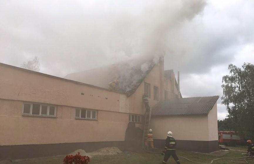 Под Брестом горело здание общественной бани