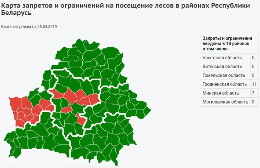 Четвёртый класс пожарной опасности объявлен в Беларуси