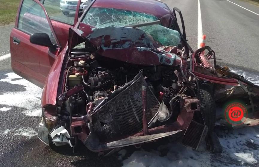 ДТП в Витебской области: автомобиль Mitsubishi столкнулся с фургоном «Газель»