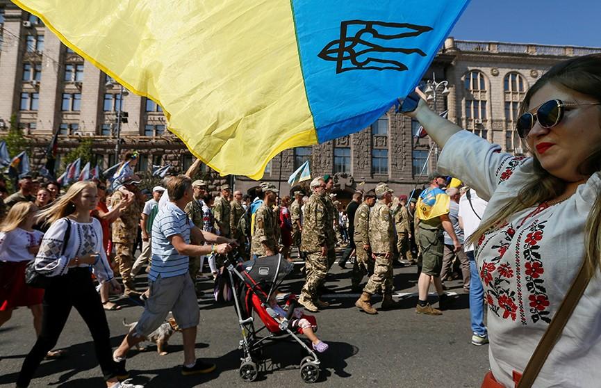 День Независимости отмечает Украина: грандиозное шествие в центре Киева, гимн в разных вариациях