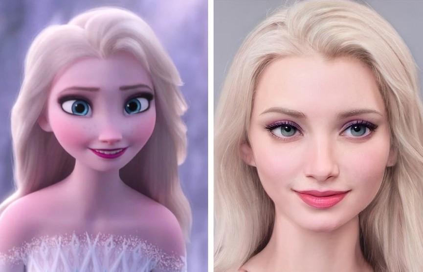 Художник показал, как выглядели бы герои Disney, если бы были реальными людьми