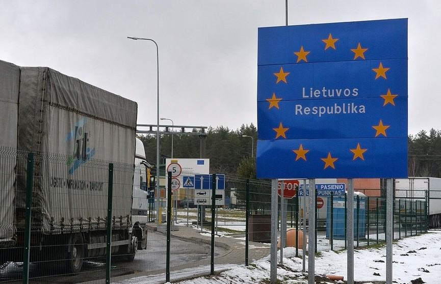 На белорусско-литовской границе было временно приостановлено таможенное оформление