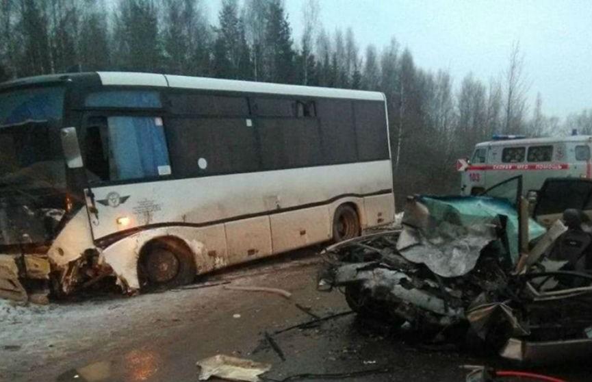 ДТП в Дрибинском районе: иномарка врезалась в автобус, погиб человек