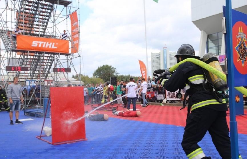 Международные соревнования «Сильнейший пожарный-спасатель» стартовали в Минске