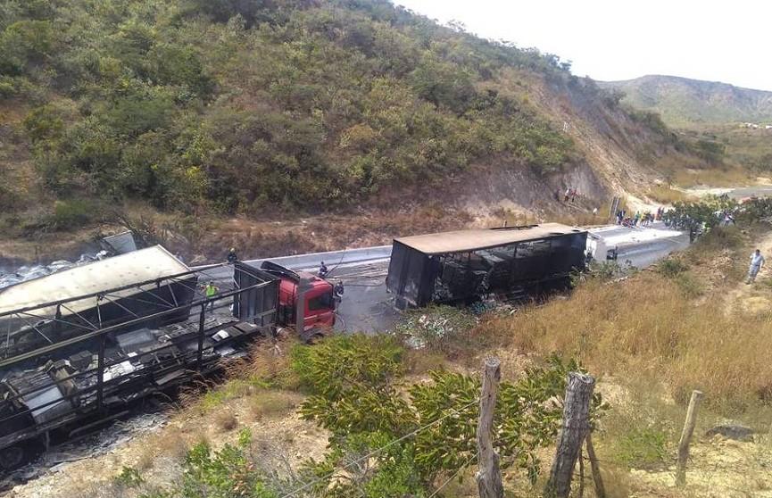 Авария с участием 11 автомобилей произошла в Бразилии