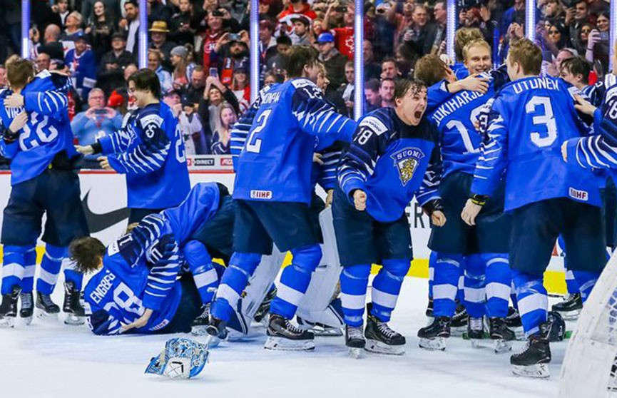 Хоккеисты молодёжной сборной Финляндии стали победителями чемпионата мира