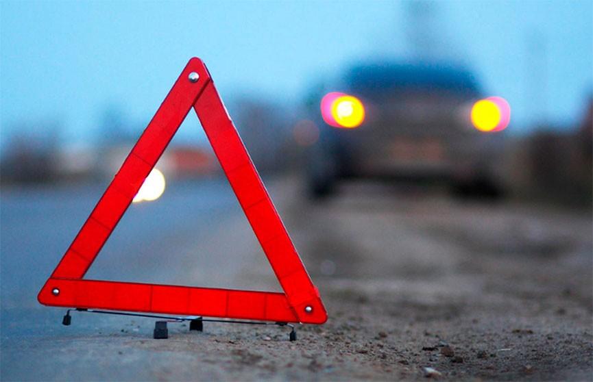 Микроавтобус врезался в стоящий у обочины автомобиль в Могилевском районе