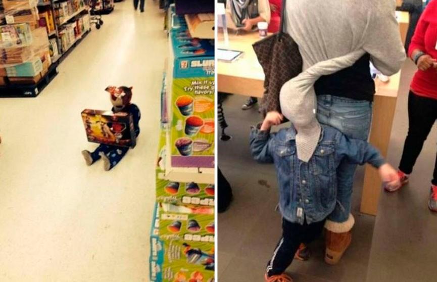 Дети в магазине! Очень забавные фото. Как вам пятый номер?