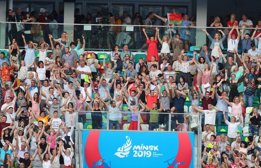 Церемония открытия II Европейских игр начинается на стадионе «Динамо»