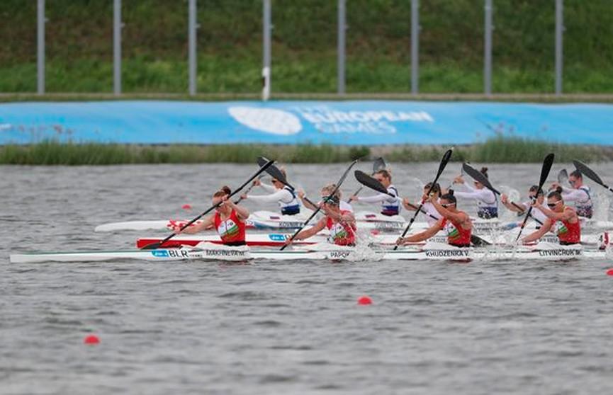 Белорусская женская байдарка-четверка выиграла серебро II Европейских игр