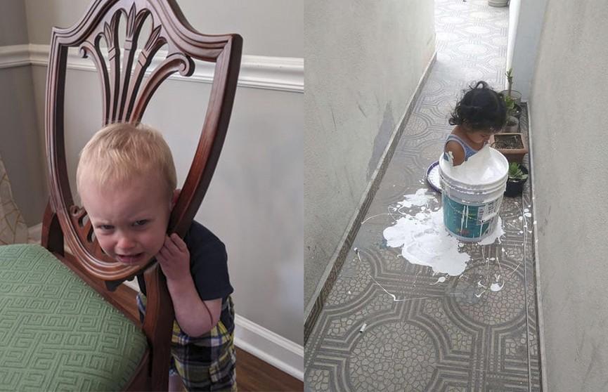 «Я отвернулась всего на 5 секунд»: посмотрите на детские проделки, которые заставили родителей схватиться за голову