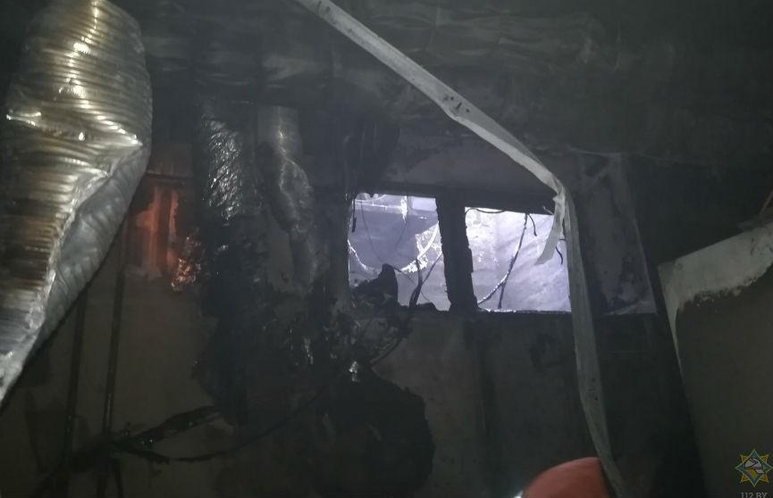 В торгово-деловом центре в Витебске был пожар