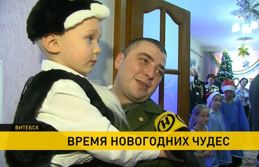 Акция «Наши дети»: представители Минспорта приехали с подарками в Могилевскую спецшколу, а десантники 103-й бригады – в Витебский детский дом
