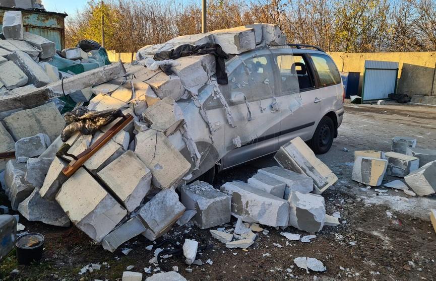 В Минске произошел взрыв на территории гаражного кооператива