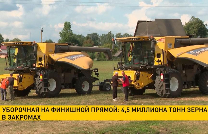Аграрии взяли новый рубеж! Общий вес намолотов зерна перевалил за 4,5 миллиона тонн!