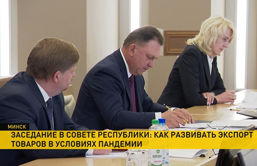 В Совете Республики обсудили развитие экспорта в условиях кризиса из-за пандемии
