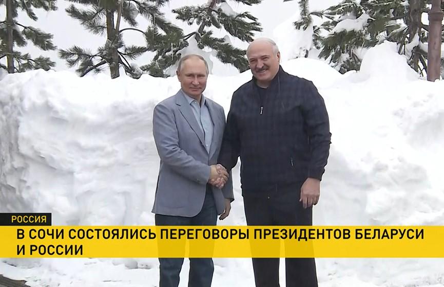 Интеграция, экономика, медицина. О чем говорили Александр Лукашенко и Владимир Путин на встрече в Сочи?