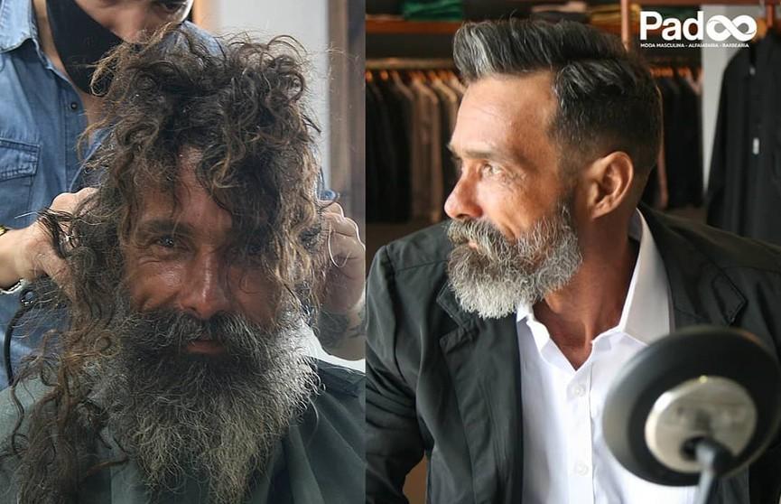 Бездомный попросил в салоне бритву, но его постригли мастера и изменили его жизнь