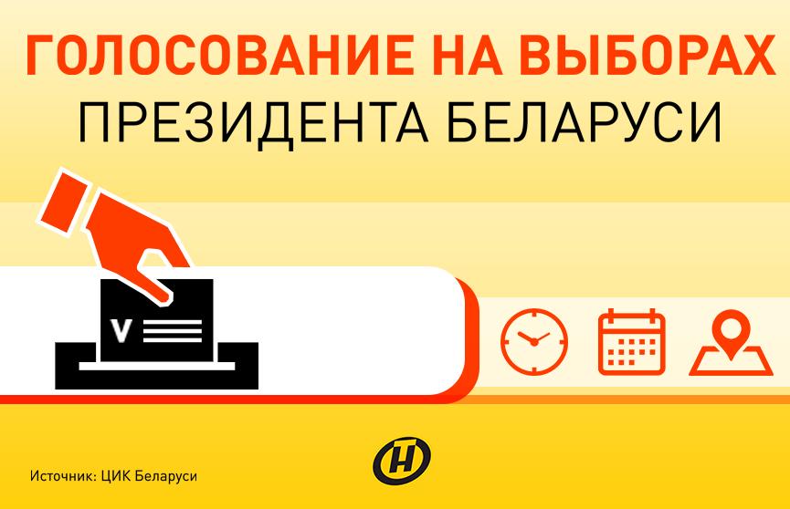 Голосование на выборах Президента Республики Беларусь. Инфографика