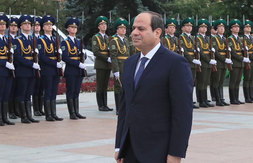 Президент Египта прибыл в Минск с официальным визитом
