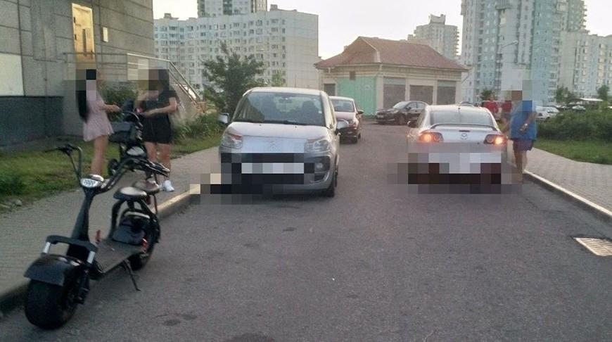 Автомобиль сбил 9-летнюю девочку на электросамокате в Минске