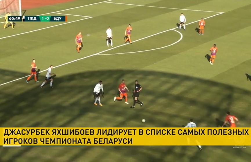 Джасурбек Яхшибоев лидирует в списке самых полезных игроков чемпионата Беларуси по футболу