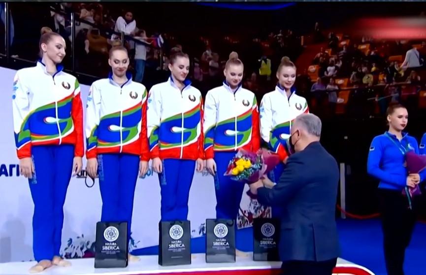 Сборная Беларуси по художественной гимнастике успешно выступила на первом в сезоне Гран-при