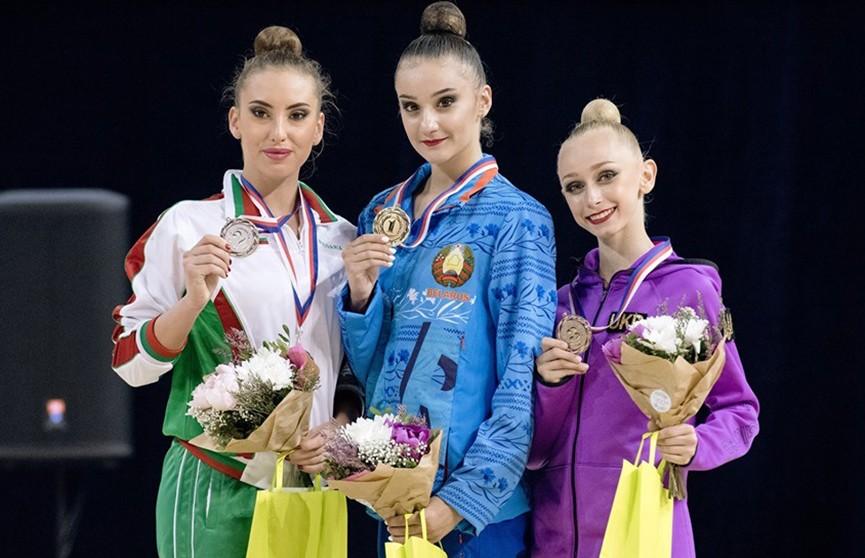 Алина Горнасько привезла из Чехии медали этапа Гран-при по художественной гимнастике