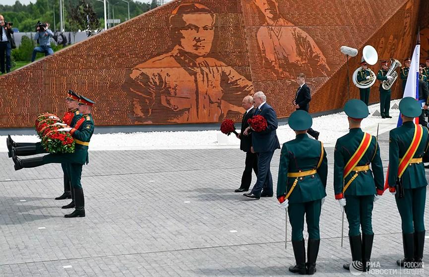 Лукашенко и Путин открыли Ржевский мемориал Советскому солдату