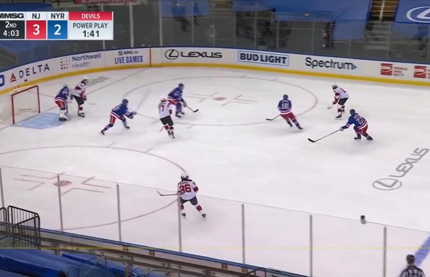 Егор Шарангович помог «Нью Джерси» обыграть «Нью-Йорк Рейнджерс» в НХЛ