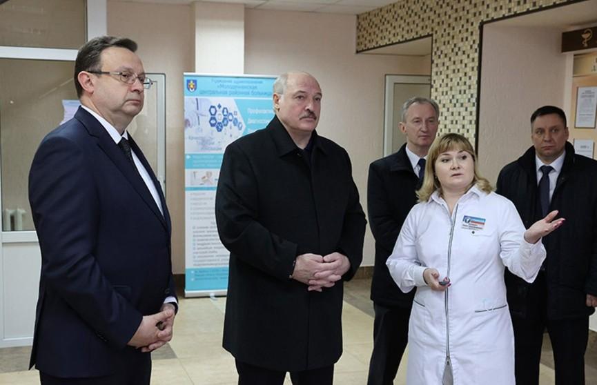 Лукашенко посетил районную больницу в Молодечно