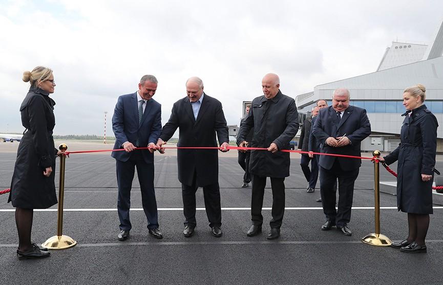 Александр Лукашенко открыл вторую взлётно-посадочную полосу в Национальном аэропорту Минск