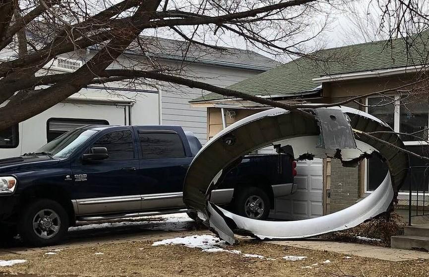 Крупная деталь авиалайнера упала на жилой квартал в США