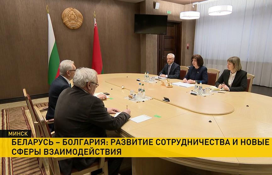 Спикер Совета Республики Наталья Кочанова встретилась с послом Болгарии