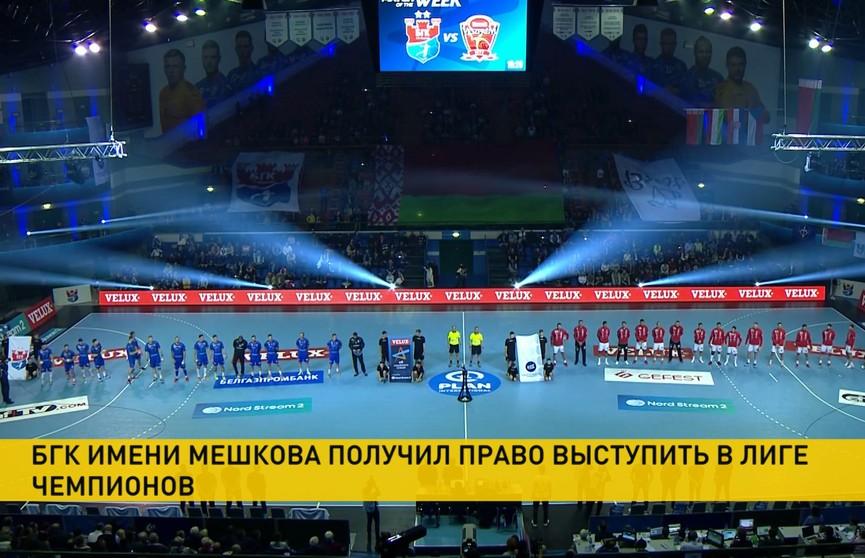 БГК имени Мешкова получил право выступать в Лиге чемпионов